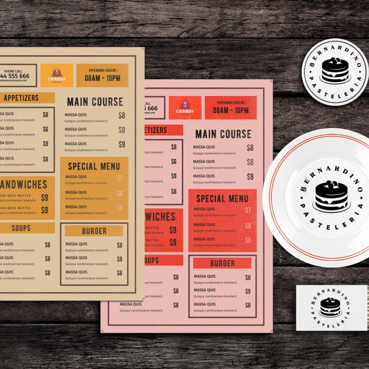 Moonlight Eats Food Menu Template