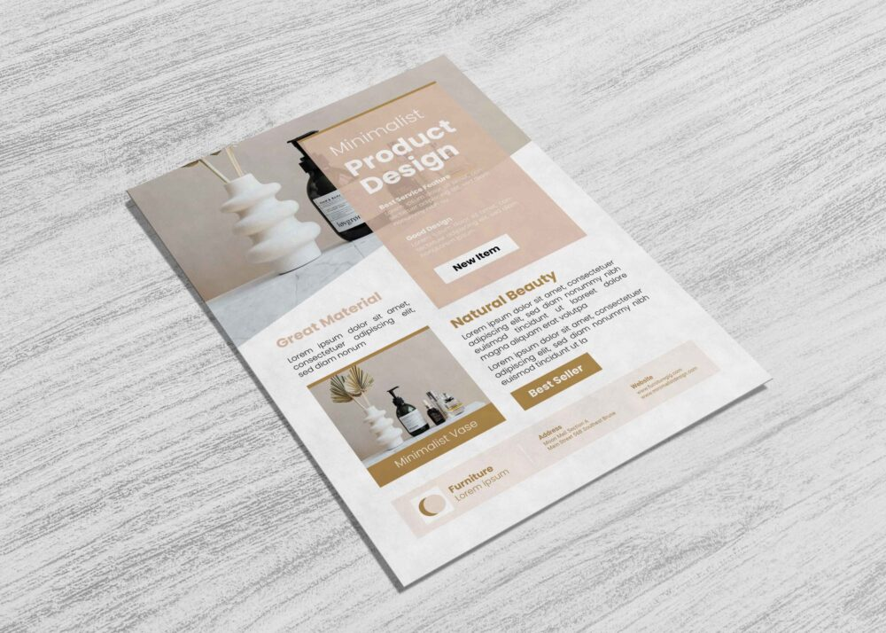 Beauty Care Minimalist Flyer Template