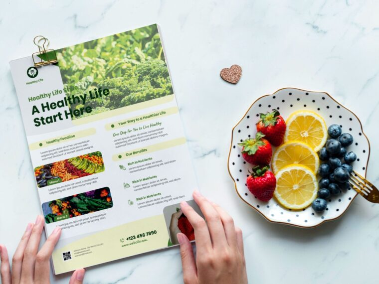 Organic Food Flyer Template 2020