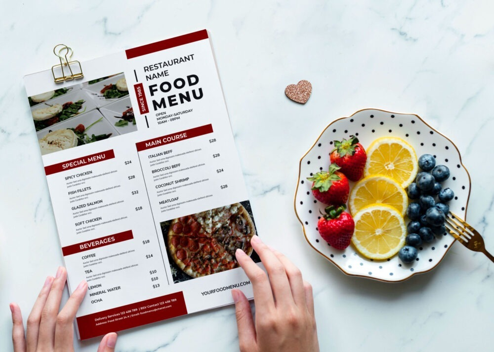 Outstanding Restaurant Food Menu PSD Template
