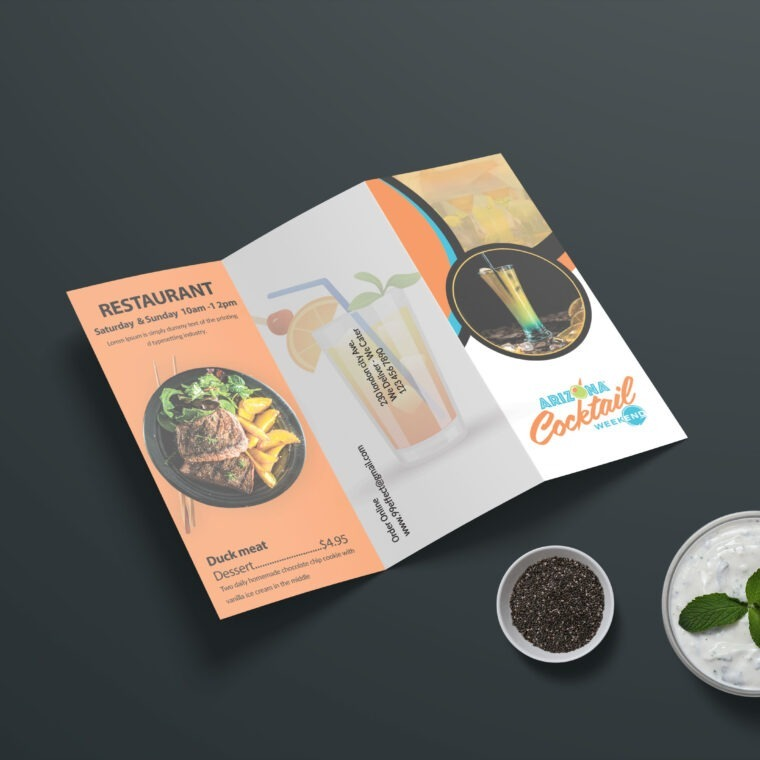 Chinese Restaurant Tri-Fold Menu Template