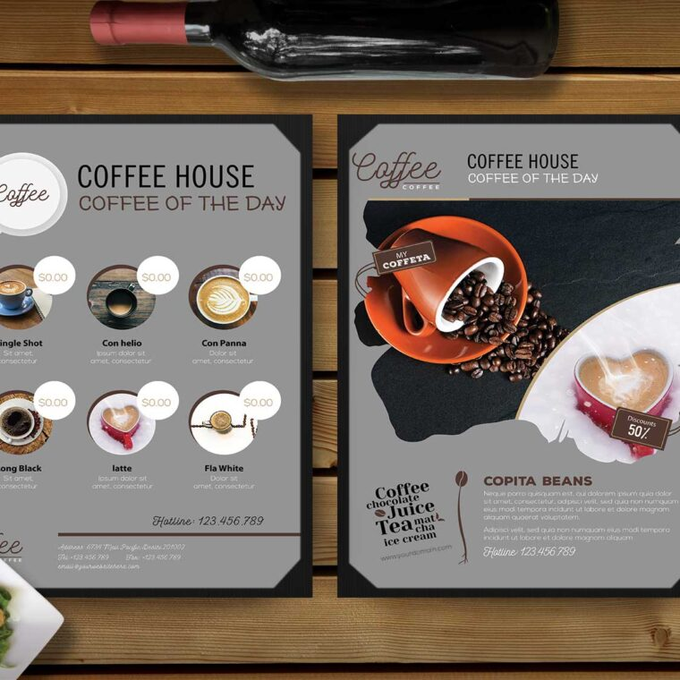 Coffee House PSD Menu Template