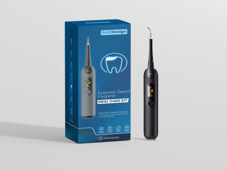 Premium Dental Tools Packaging Mockup