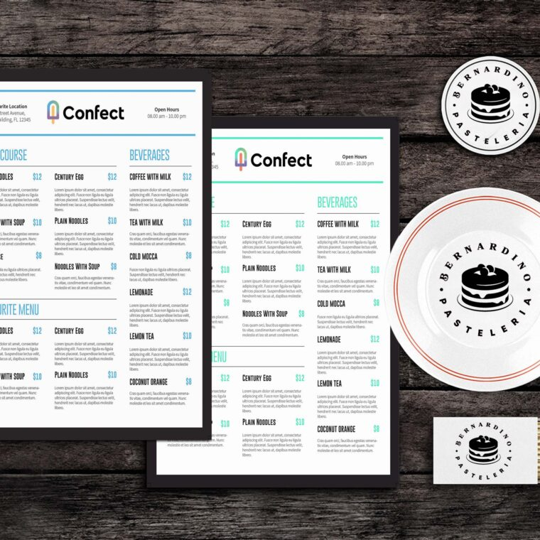 Confect Food Menu Template