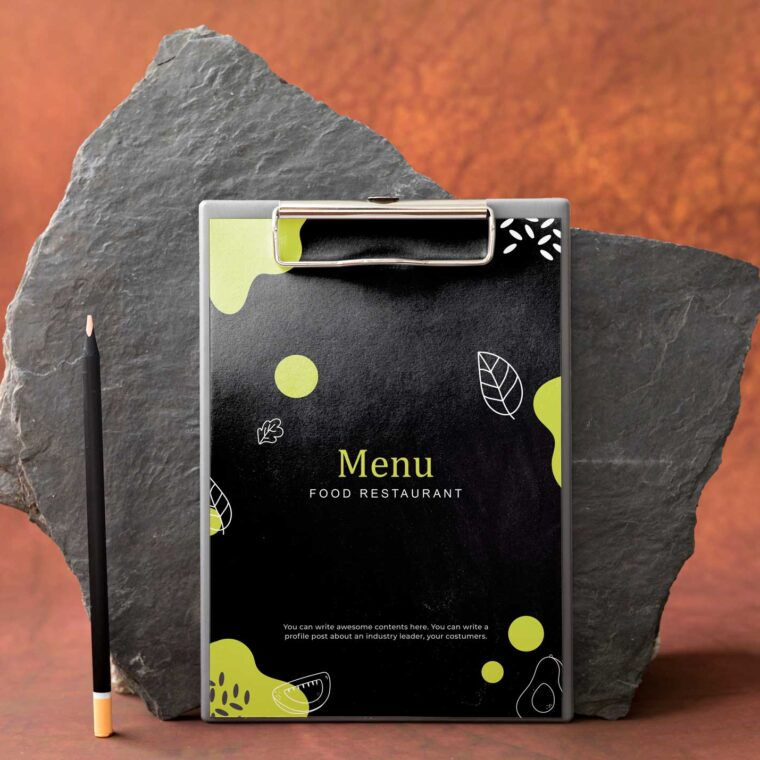 Blackboard Food Menu Design