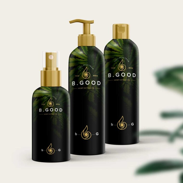 Shampoo Collection Bottle Mockup