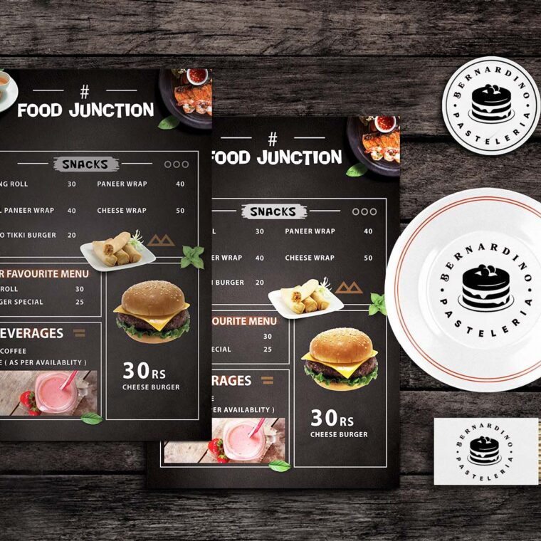 Junk Food Menu Template