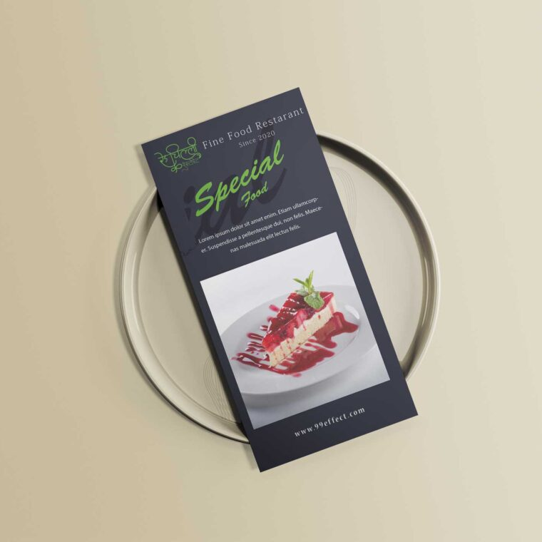 Special Tri-Fold Food Menu Design