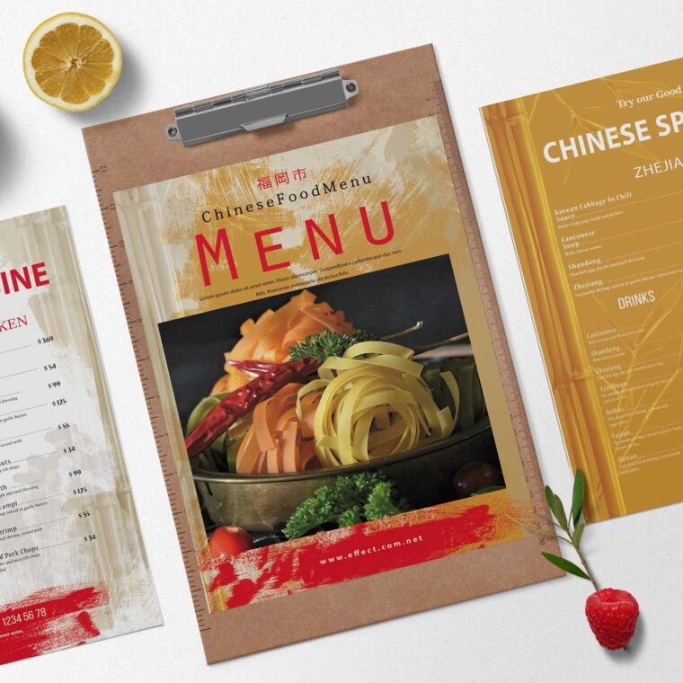 Chinese Special Menu Design
