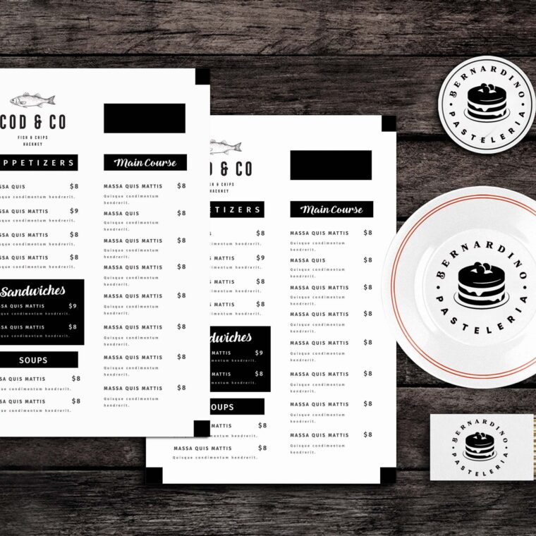 Code Food Menu Template