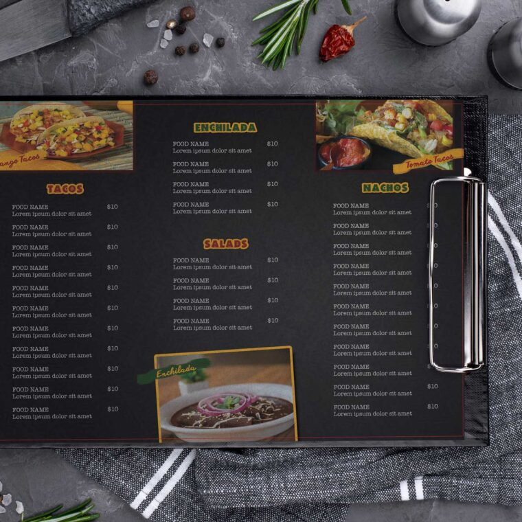 Taco Mexicana Menu Design Template