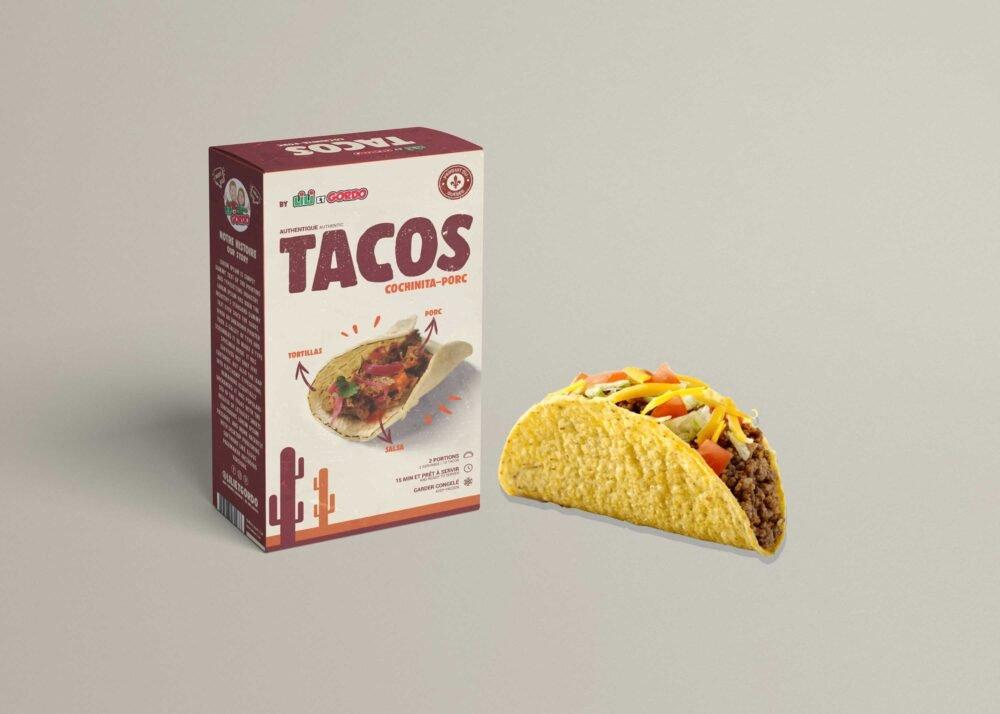Tacos Sheet Box Packaging Mockup