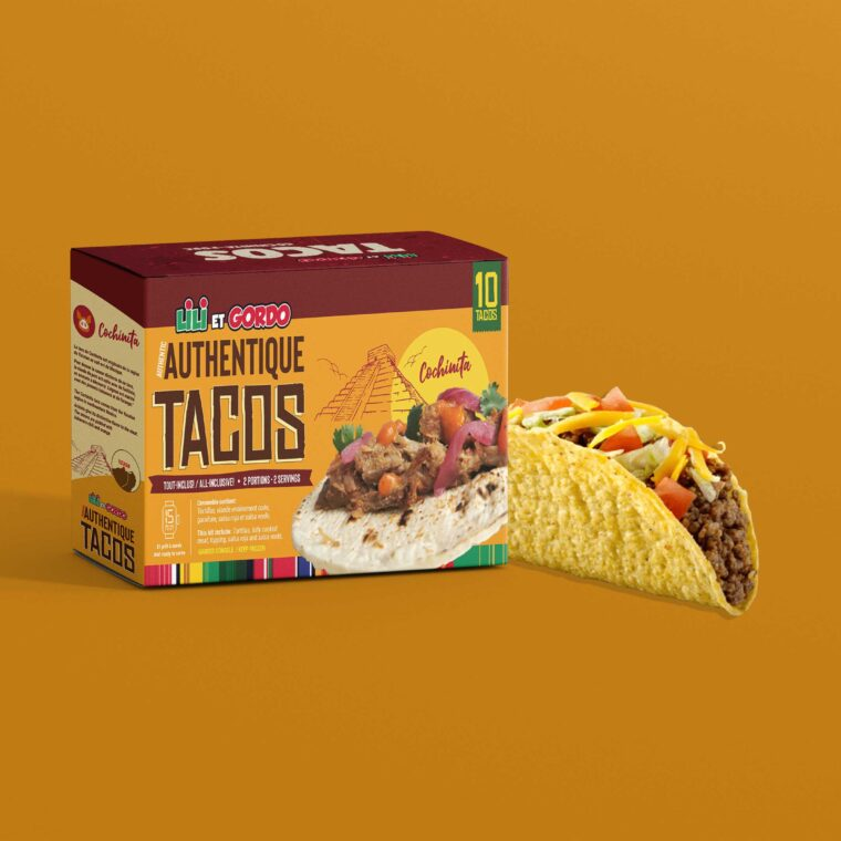 Tacos Sheet Box Packaging Mockup