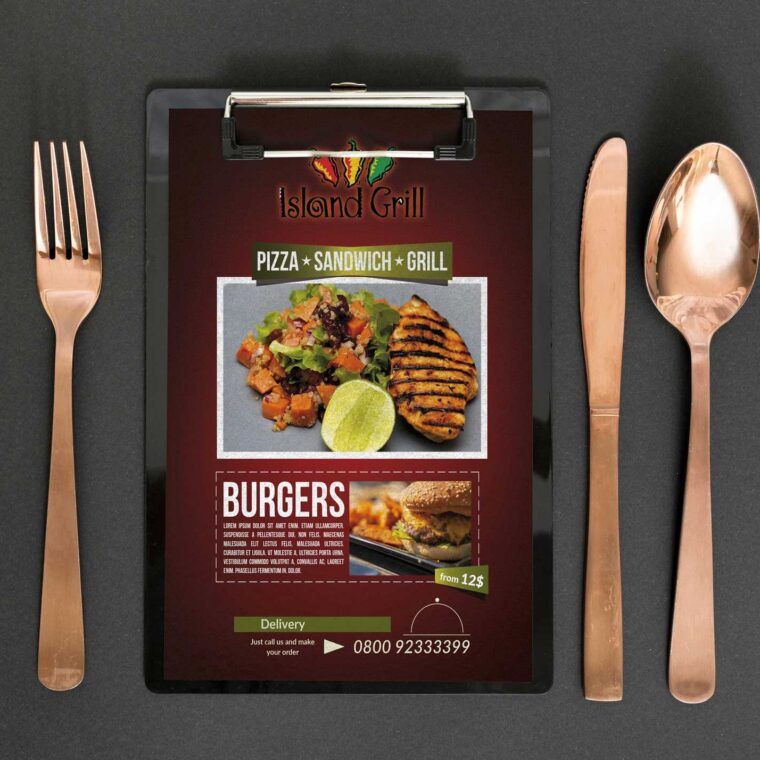 Island Grill Menu Design Template