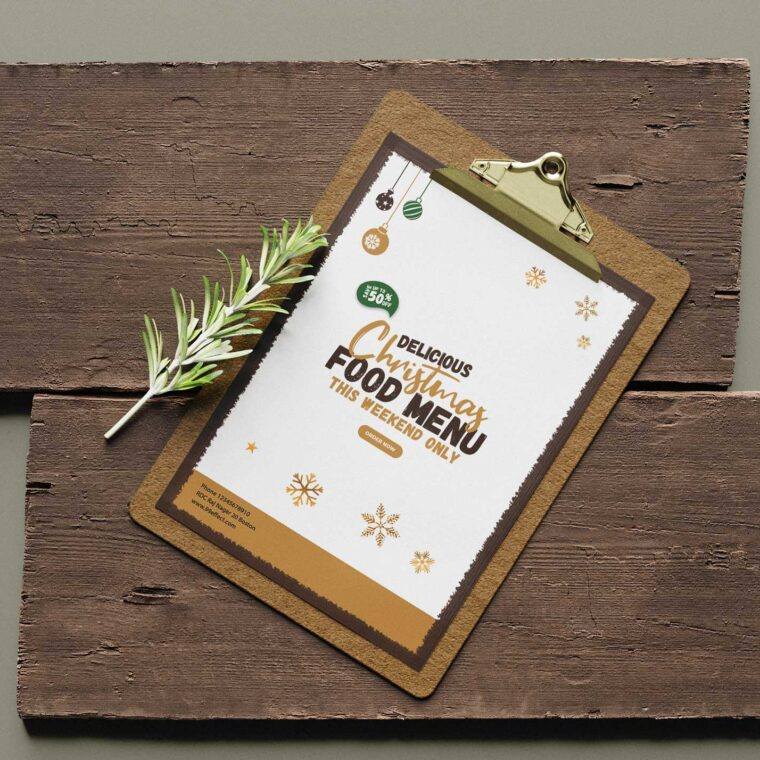 Weakened Christmas Menu Design Templates