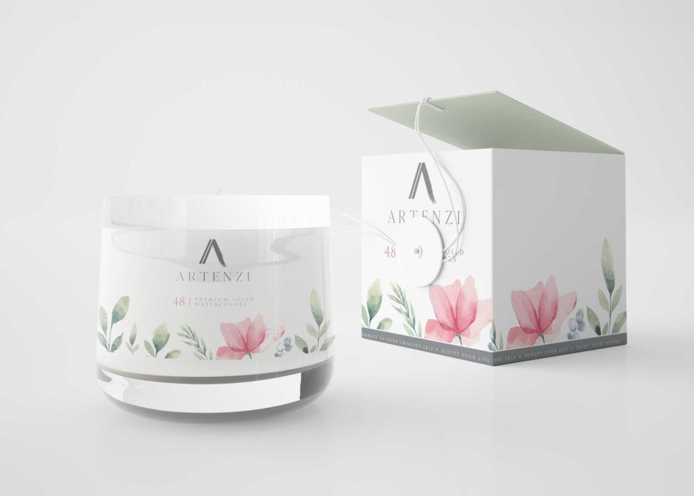 Gorgeous Flower Candle Mockup