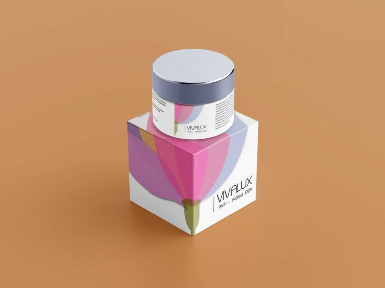 Lotus Cream Jar Packaging Mockup