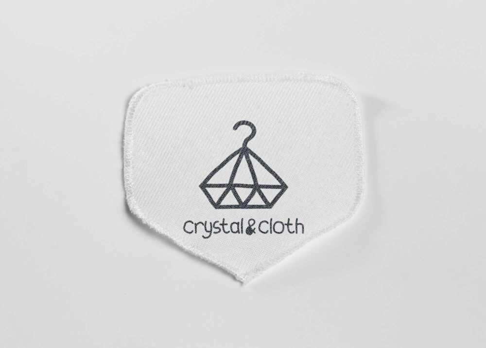 Premime White Clothing Patch Fabric Mock-up