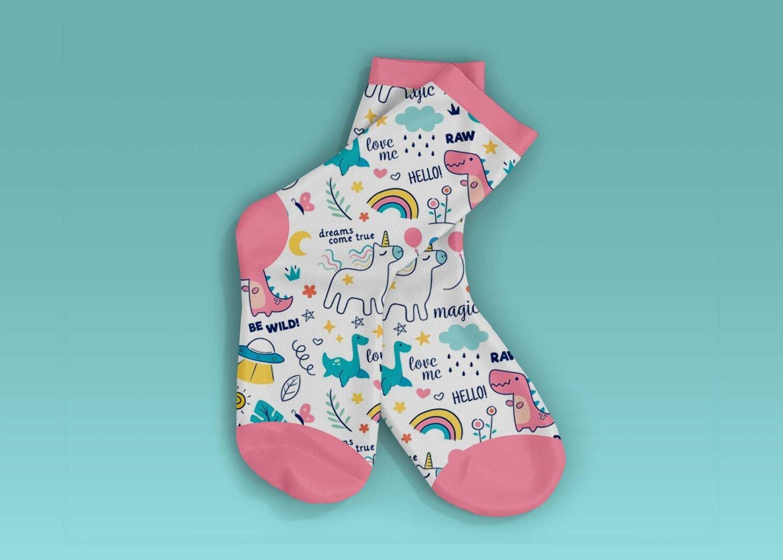 Small Baby Socks Mockup