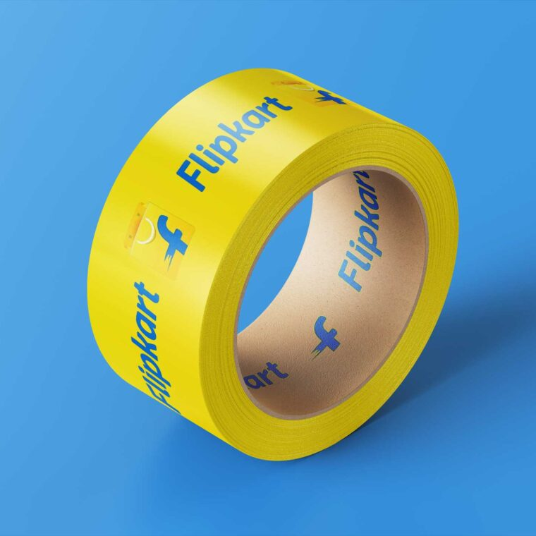 Flipkart Packaging Duct Tape Mockup