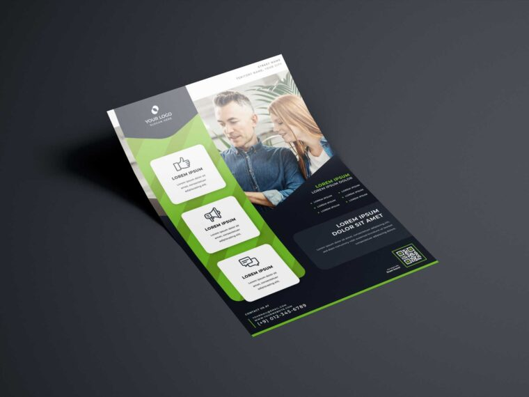 Single US Letter Flyer Mockup