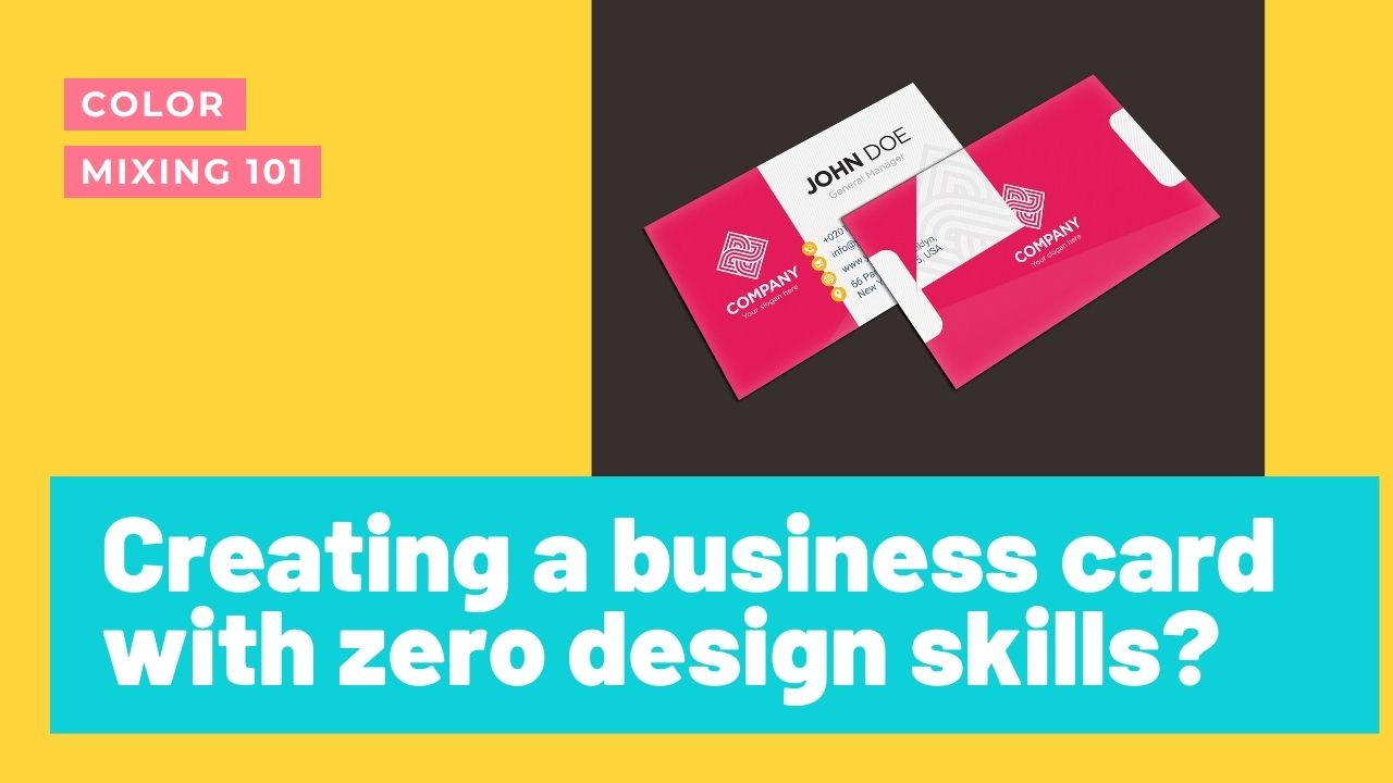 Creating a business card with zero design skills?